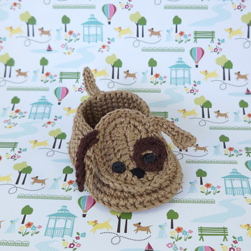Sapatinho de Crochê - Cachorro