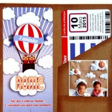 convite personalizado-balão