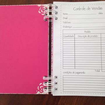 Caderno organizador de pedidos e vendas