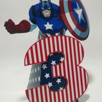 Capitão América Enfeite de Mesa