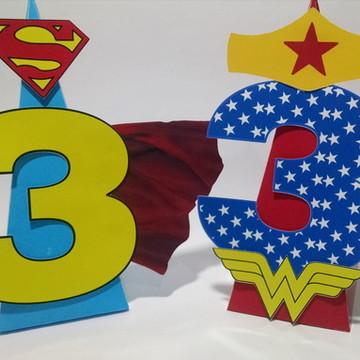 Super Heróis Enfeite de Mesa Scrap
