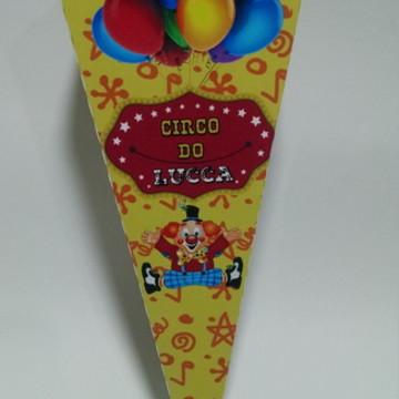 Palhaço Circo Cone P/ Guloseimas/Fritas