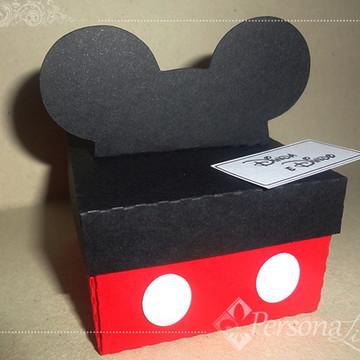 Convite Caixinha Mickey