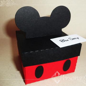Convite Caixinha Mickey Vintage