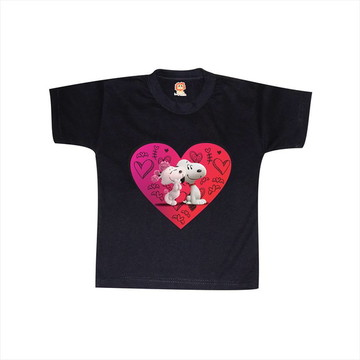 897186f4d9 Camiseta Bordada Love Snoopy
