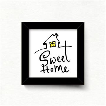 QUADRO AZULEJO SWEET HOME QD26