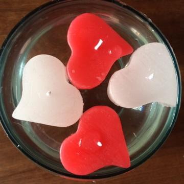 Velas Coração Flutuante (4 peças)