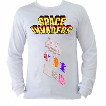 Camiseta space invaders Manga Longa 01