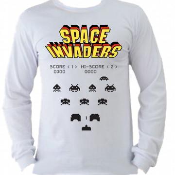 Camiseta space invaders Manga Longa 02