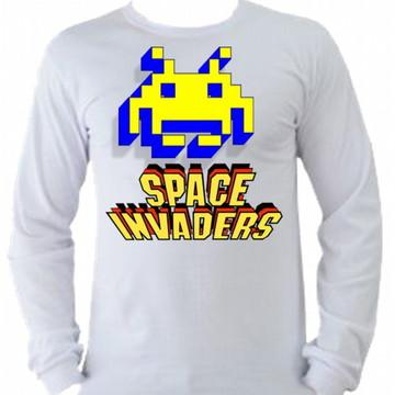 Camiseta space invaders Manga Longa 05