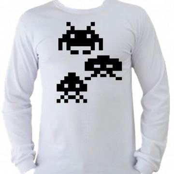 Camiseta space invaders Manga Longa 06