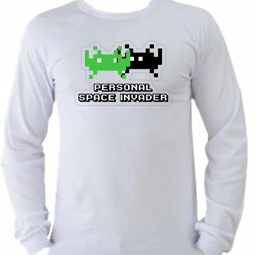 Camiseta space invaders Manga Longa 07