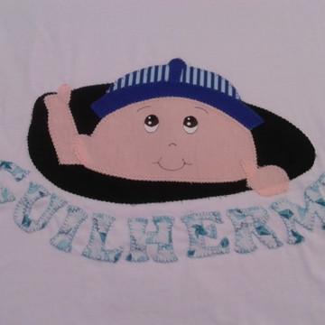 Camiseta Grávida Bebê espiando menino