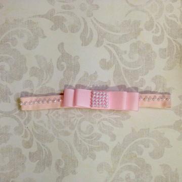Headband laço rosa
