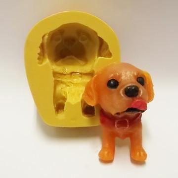 Cachorro Feliz - molde de silicone
