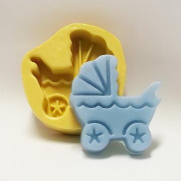 Carrinho de Bebê - molde de silicone