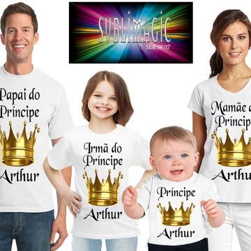 Kit 4 Camisetas coroa de Príncipe