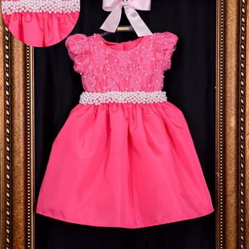 Vestido de Festa Tema Pink - Infantil