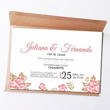 Convite de Casamento -- Arte Digital