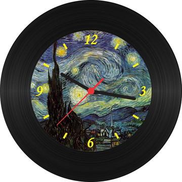 Relógio de Vinil - Van Gogh