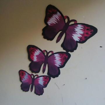 Conjunto de borboletas MDF