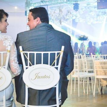 Placa - Cadeira dos noivos