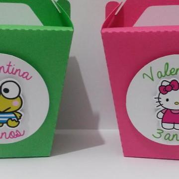 Caixa Lembrancinha Hello Kitty e Keroppi
