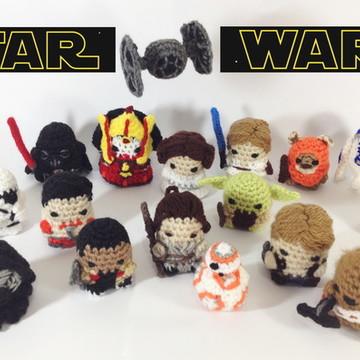 Kit Star Wars com 5 personagens