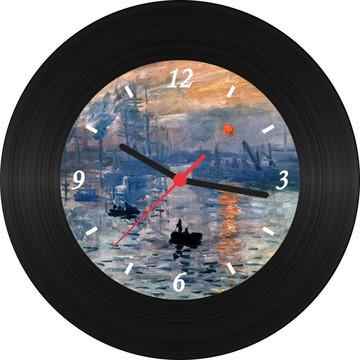 Relógio de Vinil - Monet