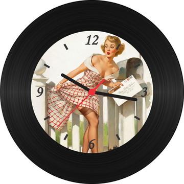Relógio de Vinil - Pin Up 008