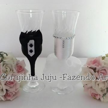 Taças Personalizadas - Noivo e Noiva