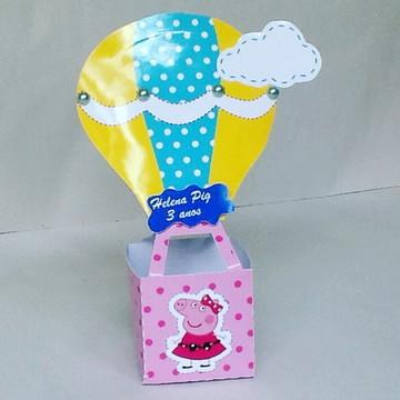 Caixa balão da festa candy da porquinha