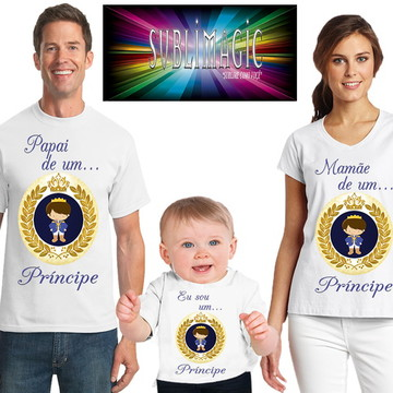 Kit 3 Camisetas Príncipe