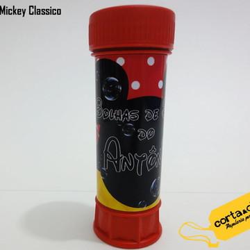 Rótulo p/ Bolha de Sabão Mickey