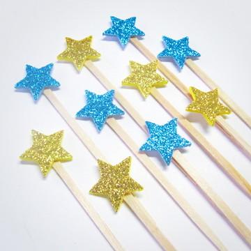 Pick Estrela Glitter Pequeno Príncipe