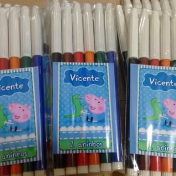 Canetinhas Personalizadas - 6 cores