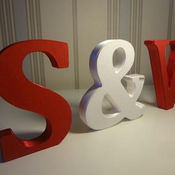 Letras em MDF forradas e decorativas
