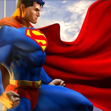 Painel Super homem 3D Frete Grátis