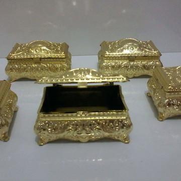 Mini Bau Dourado ou Prata