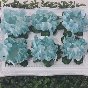 40 Forminhas de Doces Finos Azul Tiffany