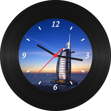Relógio de Vinil - Burj Al Arab (Dubai)