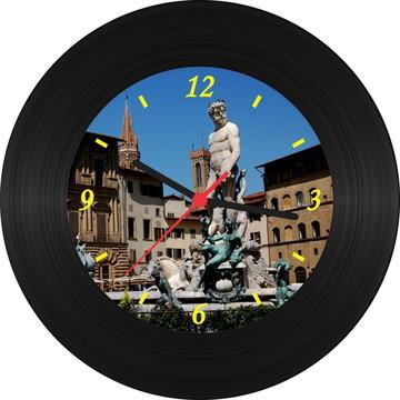 Relógio de Vinil - Fonte de Netuno