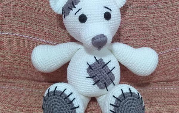 Urso Retalho   Dodói - Amigurumi no Elo7   Ateliê da Vovó Marcia ...   380x600