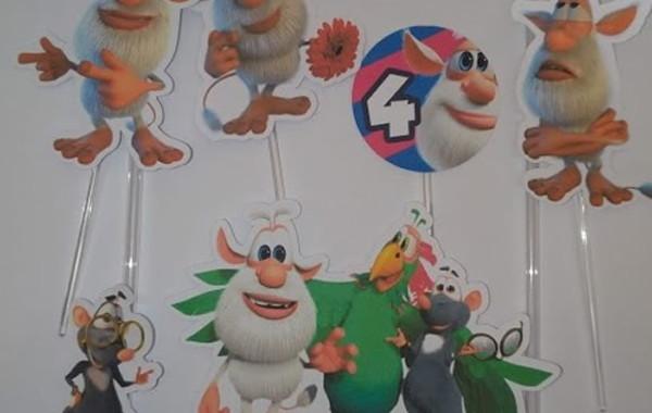Topo De Bolo Scrap Topper De Bolo Booba Cartoon Network No Elo7 Chuva Colorida 1519752