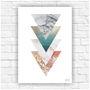 Poster-impresso-abstrato-geometrico-tamanho-a4-restaurante