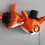 Casal-raposas-em-papel-3d-low-poly-paper-raposinha