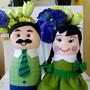Centro-de-mesa-fazendeiros-caipiras-de-feltro-decoracao-de-aniversario