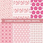 Kit-papel-digital-flor-de-cerejeira-rosa