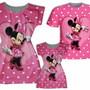 Vestido-mae-e-filha-camisa-pai-minie-rosa-personalizados
