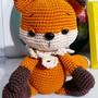 Raposa-em-crochet-amigurumi